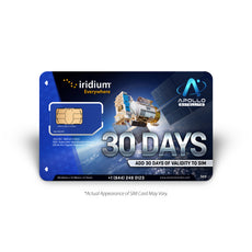 Iridium 30 Day Prepaid Validity Extension