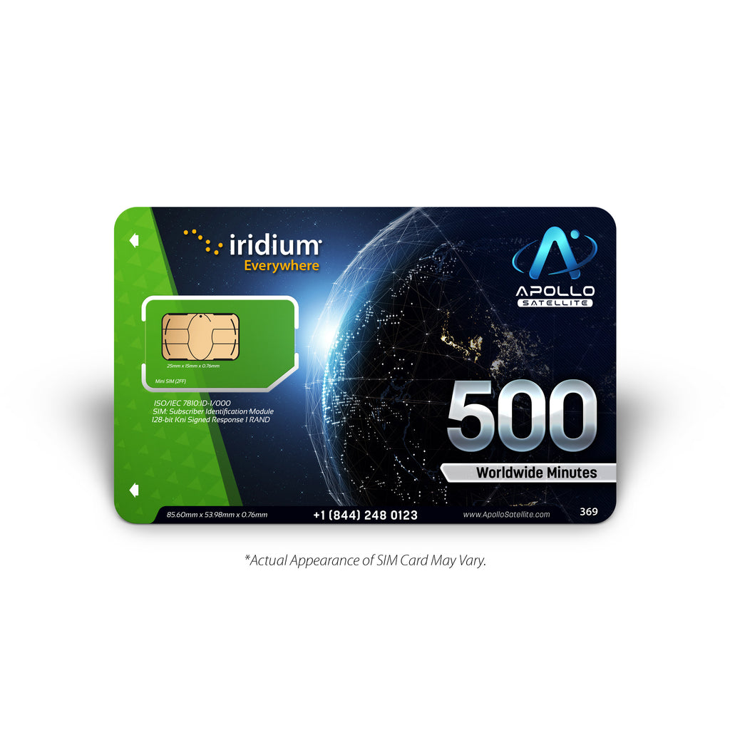 Iridium Global 500 Minute 1 Year Prepaid SIM