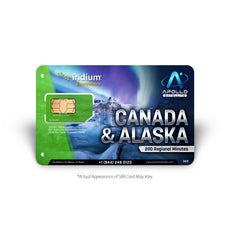 Iridium Canada Alaska 200 Minute Prepaid Satellite Phone SIM Card