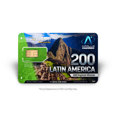 Iridium Latin America 200 Minute Prepaid Satellite Phone SIM Card