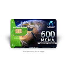 Iridium MENA 500 Minute Prepaid Satellite Phone SIM Card