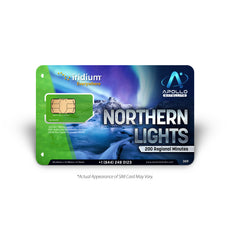 Iridium Northern Lights 200 Minute Prepaid Satellite Phone SIM Card