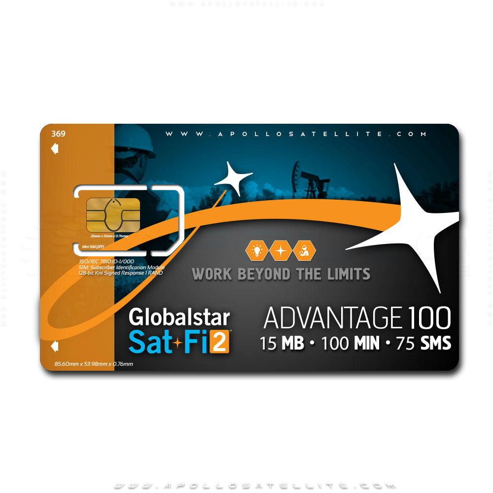 Globalstar Sat-Fi2 Advantage 100 Monthly Service Activation