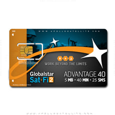 Globalstar Sat-Fi2 Advantage 40 Monthly Service Activation