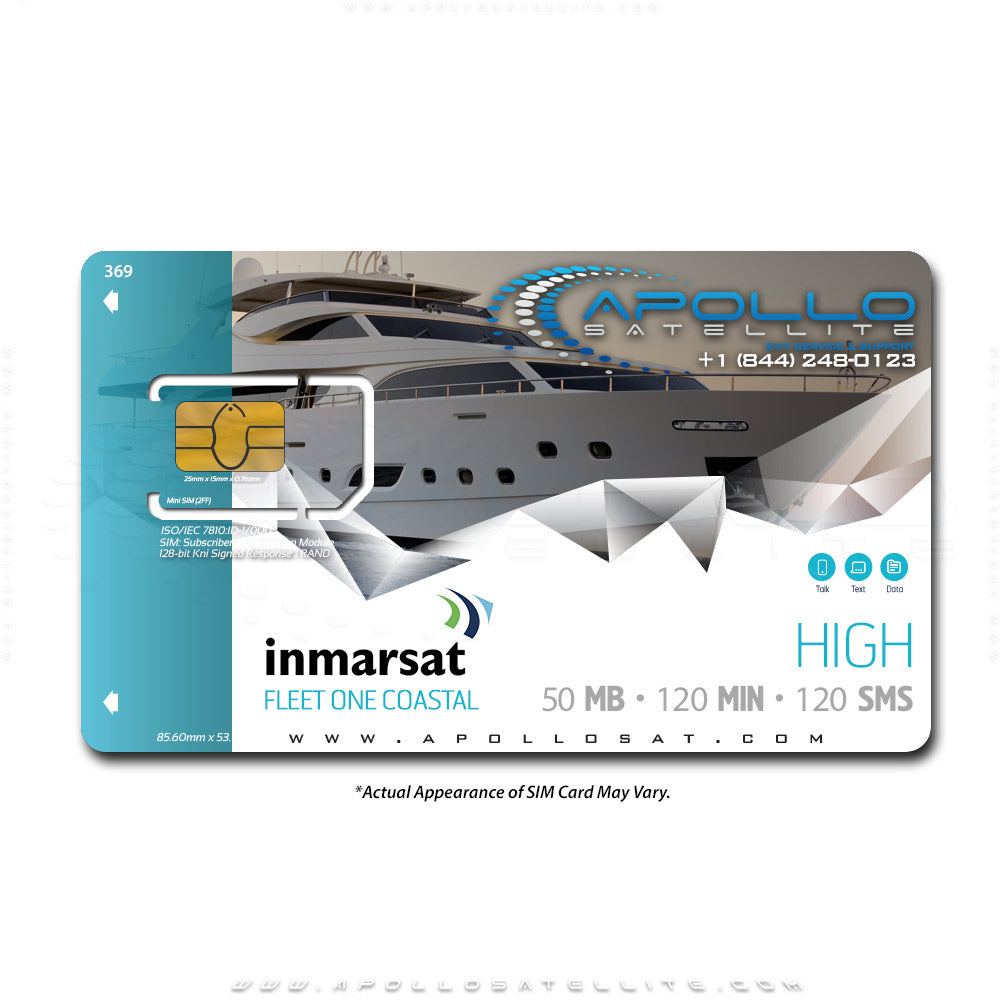 Inmarsat Fleet One Coastal High Monthly Plan
