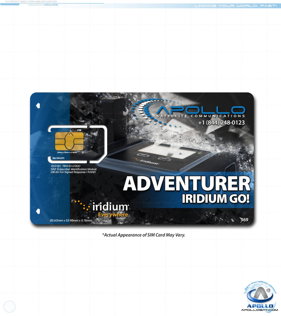 Iridium GO Adventurer Monthly Service Plan