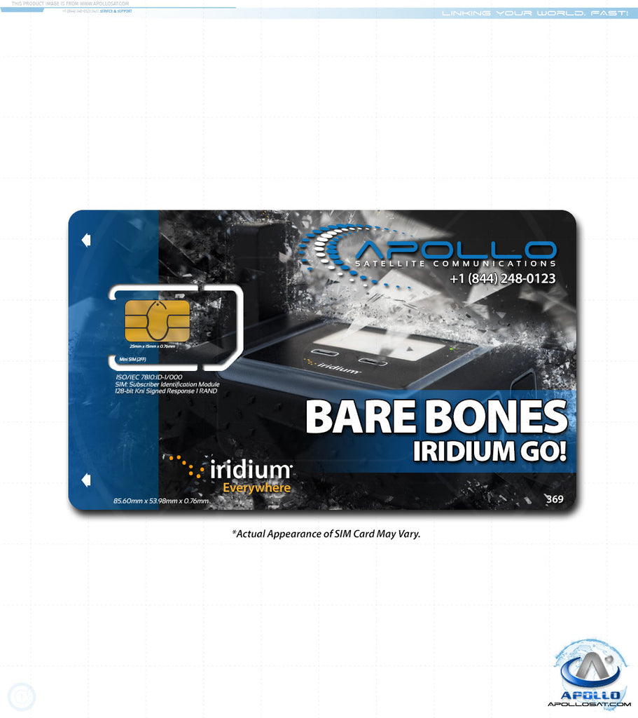 Iridium GO Bare Bones Monthly Service Plan
