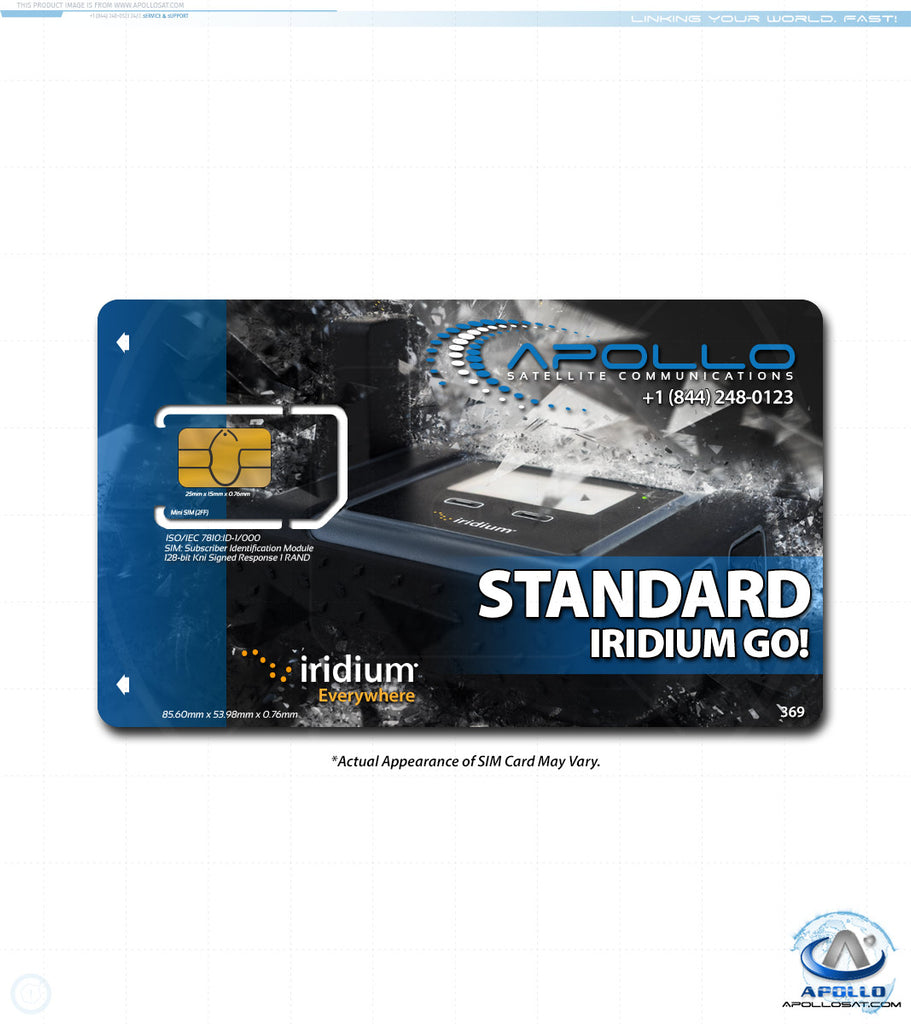 Iridium GO Standard Monthly Service Plan