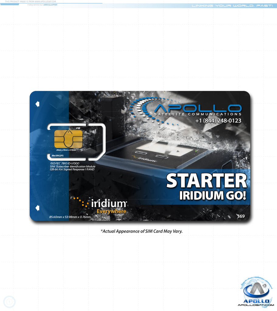 Iridium GO Starter Monthly Service Plan