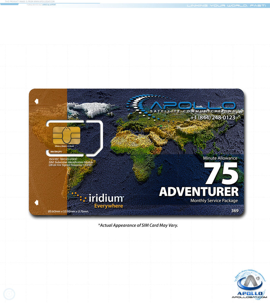 Iridium Adventurer Monthly Satellite Phone Service Plan