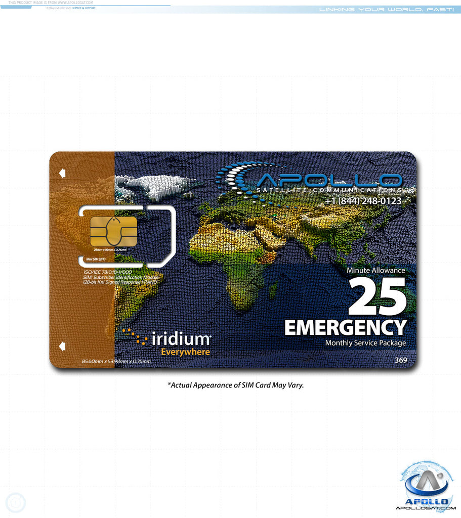 Iridium Emergency Package - Monthly Postpaid Service