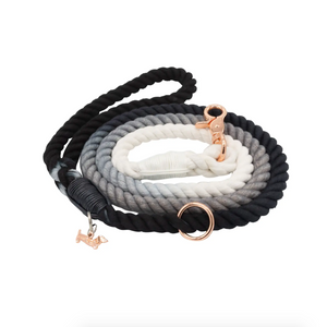 Ombre Black Woven Leash