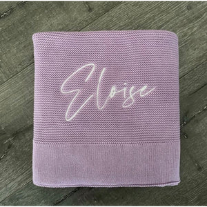 Blue Bear - Organic Cotton Personalised Swaddle Blanket Wrap
