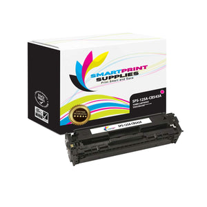 5 Pack HP 125A 4 Colors Toner Cartridge Replacement By Smart Print Supplies