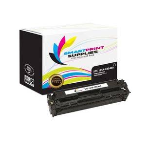 2 Pack HP 125A Black Toner Cartridge Replacement By Smart Print Supplies