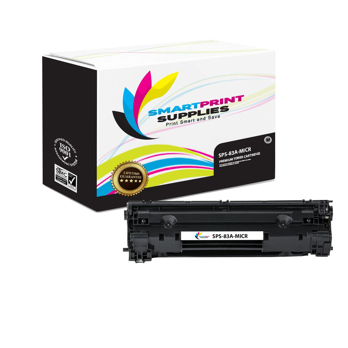Black CF283A Printel Brand New Replacement Toner Cartridge for HP 83A 2 Pack