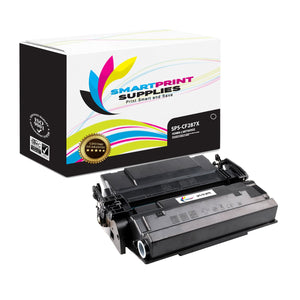 2 Pack HP 87X CF287X Replacement Black Toner Cartridge by Smart Print Supplies