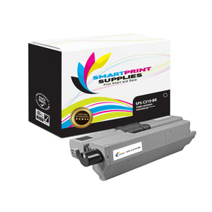 2 Pack Okidata C310 Black Toner Cartridge Replacement By Smart Print Supplies
