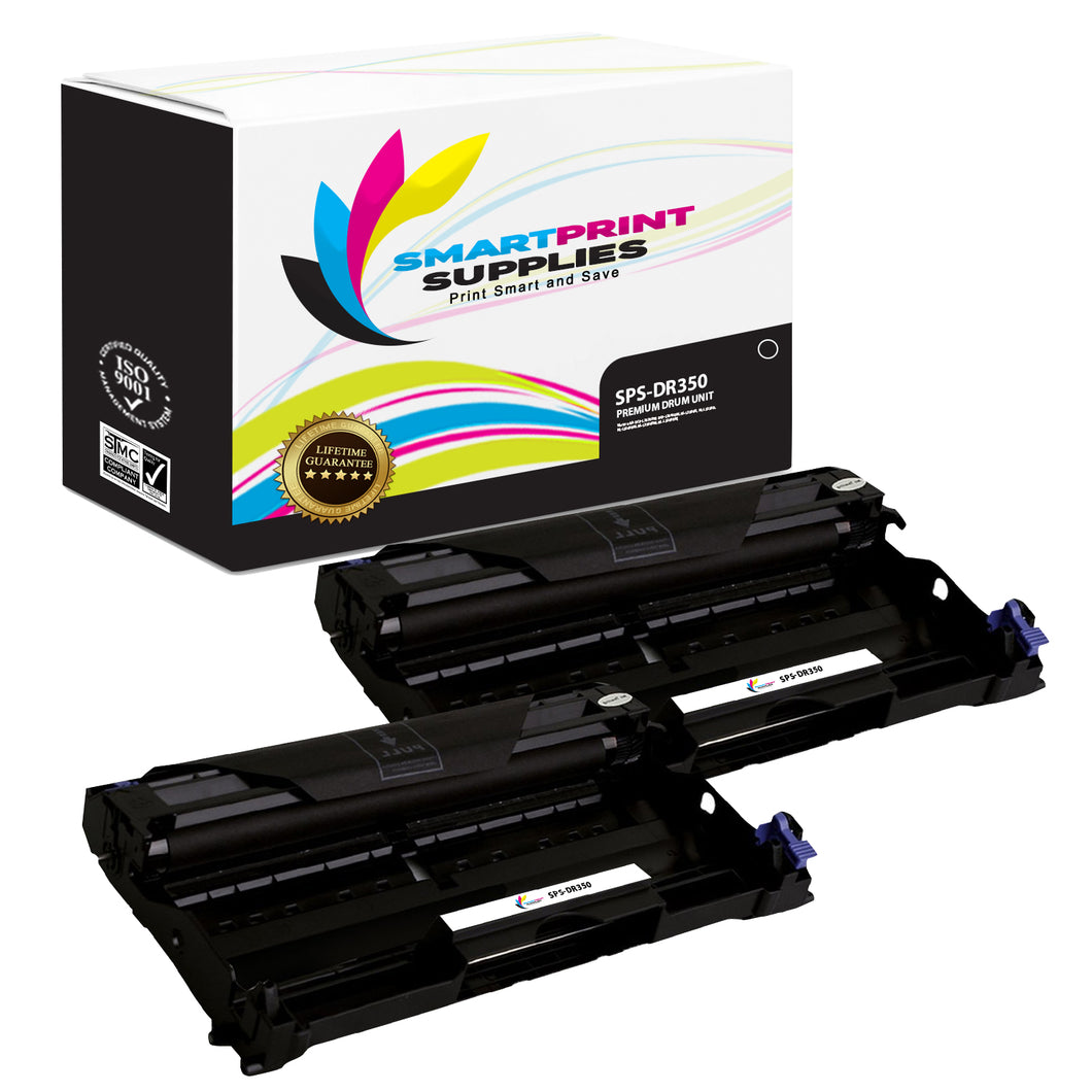2 Pack Brother DR350 Replacement Drum Unit By Smart Print Supplies
