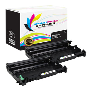 2 Pack Brother DR360 Replacement Drum Unit By Smart Print Supplies