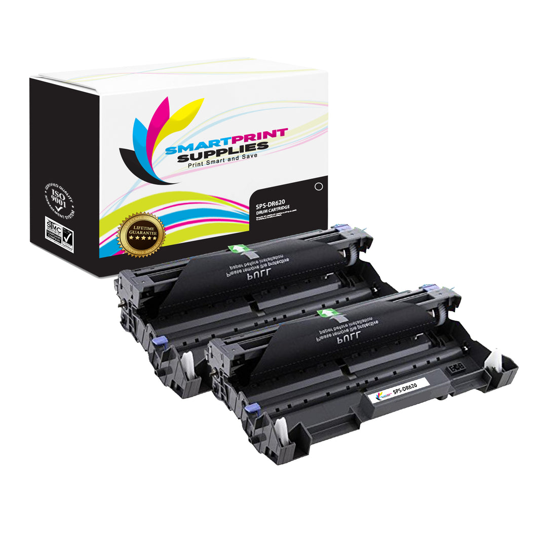 2 Pack Brother DR620 Replacement Drum Unit By Smart Print Supplies