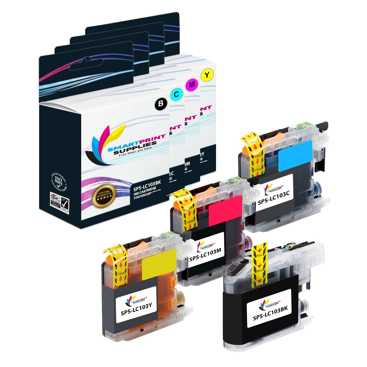LiC-Store 12x 3Black, 3Cyan, 3Magenta, 3Yellow Ink Cartridge LC10 LC37 LC51 LC57 LC960 LC970 LC1000 Compatible For Brother DCP-130C DCP-135C MFC-235C MFC-240C printer