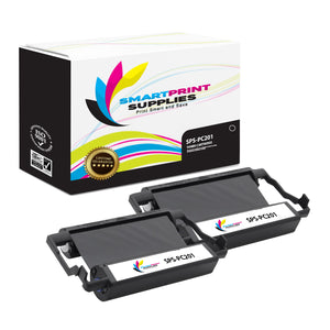 2 Pack Brother PC201 Black Compatible Ribbon Cartridge by Smart Print Supples