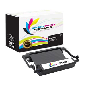 1 Pack Brother PC201 Black Compatible Ribbon Cartridge by Smart Print Supples