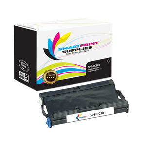 1 Pack Brother PC501 Black Compatible Ribbon Cartridge by Smart Print Supples