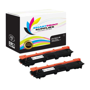 Smart Print Supplies TN221 TN221BK Replacement Black Toner Cartridge Two Pack