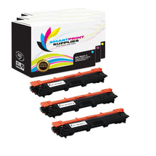 Smart Print Supplies TN221 Replacement Colour Toner Cartridge Three Pack