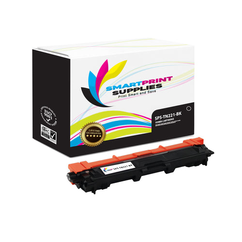 Brother TN221 Replacement Black Toner Cartridge by Smart Print Supplies /2500 Pages