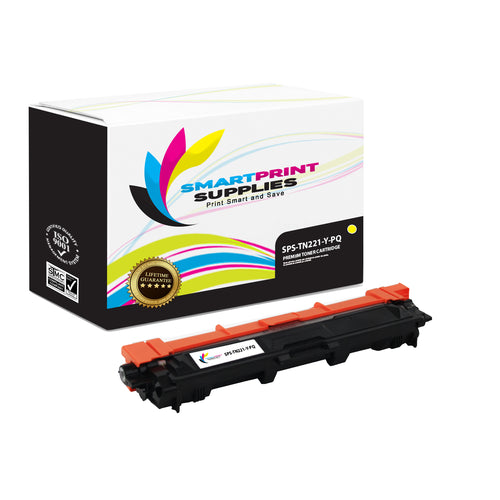 Brother TN221 Replacement Yellow Toner Cartridge by Smart Print Supplies /2200 Pages