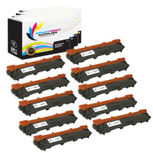 10 Pack Brother TN225 Replacement 4 Colors Toner Cartridge by Smart Print Supplies /2,500 per black cartridge, and 2,200 per color cartridge Pages