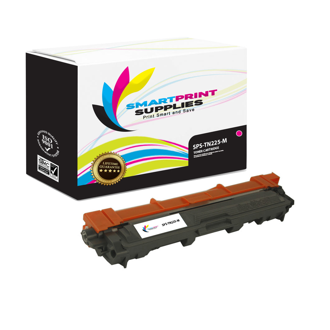 Brother TN225 Replacement Magenta Toner Cartridge by Smart Print Supplies /2200 Pages