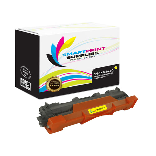 Brother TN225 Premium Replacement Yellow Toner Cartridge by Smart Print Supplies /2200 Pages