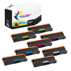 8 Pack Brother TN336 4 Colors Replacement Toner Cartridge By Smart Print Supplies