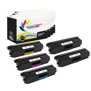 5 Pack Brother TN339 4 Colors Replacement Toner Cartridge By Smart Print Supplies