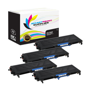 4 Pack Brother TN360 Black Replacement Toner Cartridge By Smart Print Supplies