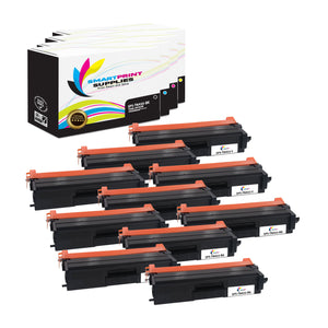 10 Pack Brother TN433 4 Colors Replacement Toner Cartridge By Smart Print Supplies