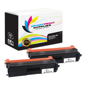 2 Pack Brother TN433 Black Replacement Toner Cartridge By Smart Print Supplies