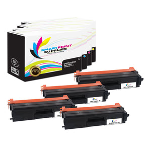 4 Pack Brother TN433 4 Colors Replacement Toner Cartridge By Smart Print Supplies