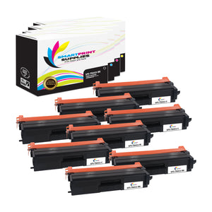 8 Pack Brother TN433 4 Colors Replacement Toner Cartridge By Smart Print Supplies