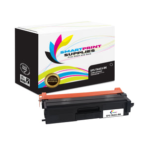 1 Pack Brother TN433 Black Replacement Toner Cartridge By Smart Print Supplies