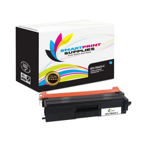 1 Pack Brother TN433 Cyan Replacement Toner Cartridge By Smart Print Supplies