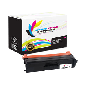 1 Pack Brother TN433 Magenta Replacement Toner Cartridge By Smart Print Supplies