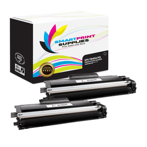 2 Pack Brother TN450 Premium Replacement Black Toner Cartridge by Smart Print Supplies /2600 Pages