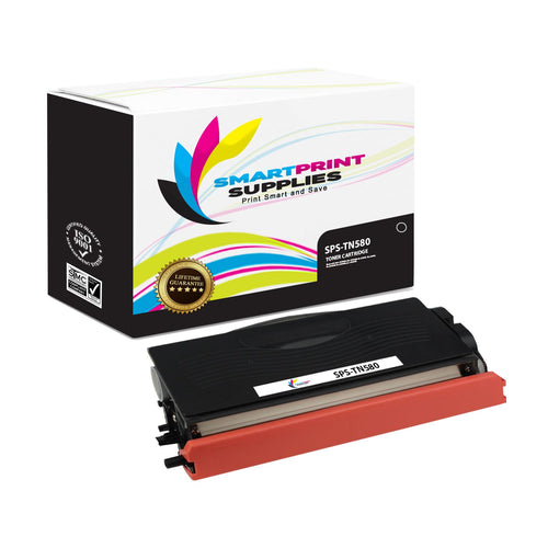 1 Pack Brother TN580 Black Replacement Standard Toner By Smart Print Supplies