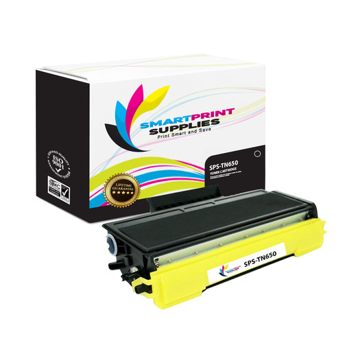 1 Pack Brother TN650 Black Replacement Standard Toner By Smart Print Supplies