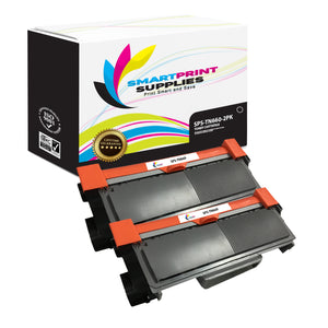 2 Pack Brother TN660 Black Replacement Standard Toner By Smart Print Supplies